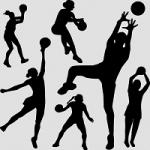 Femme jouant au basket-ball