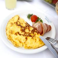 Omelette et Bacon