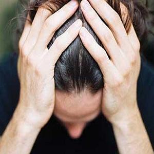 Une homme stressé
