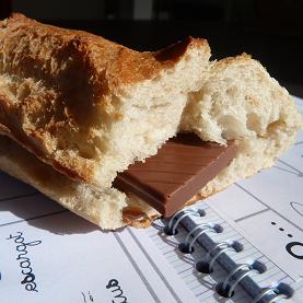 Sandwich au chocolat