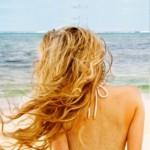 Blonde à la plage