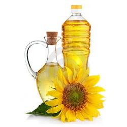 Bouteille d'huile de tournesol