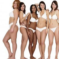 5 femmes en sous-vêtements