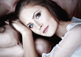 Femme avec une belle peau
